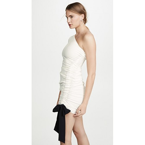 Misha Collection Faye Dress Ivory Ruching at side MISHA30082