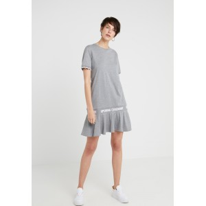 Opening Ceremony SCALLOP LOGO DRESS  Jersey dress heather grey Marl 100% cotton