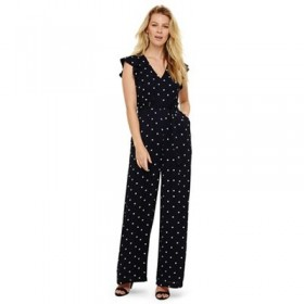 Phase Eight Navy And Ivory Dotty Jumpsuit Length: 79cm inside leg Dress Style: Jumpsuit 54510_204740287