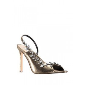 Nina Deanne Bejeweled Metallic d'Orsay Sandals Peep toe 0500088982800