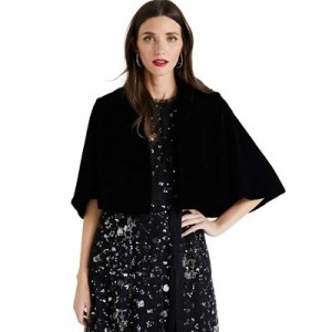 Phase Eight Black Amelie velvet cape jacket Material: 100% polyester Lining: 100% polyester 54510_900918050