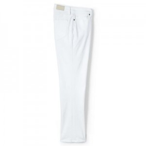 Lands' End White regular xtralife white denim kick crop jeans Mid rise sits just below the natural waist Classic 5-pocket styling 61132_482941WHI