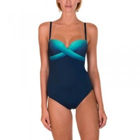 Lisca Green 'Eldorado' Foam Cup Swimsuit Ombre print Can be worn classically or crossed in the back 64592_4341333