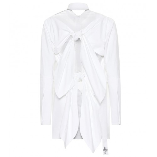 Absence of Paper Pigtails cotton shirt White concealed buttoned front self-ties P00359916 OAQMVGL