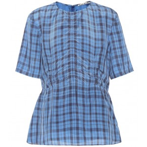 Acne Studios Checked top indigo lining 100% cupro fully lined P00368968 IDXSWOT