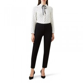 Hobbs Black 'Kirsty' trousers Material: 64% polyester 34% viscose 2% elastane Lining: 100% polyester 64104_60865