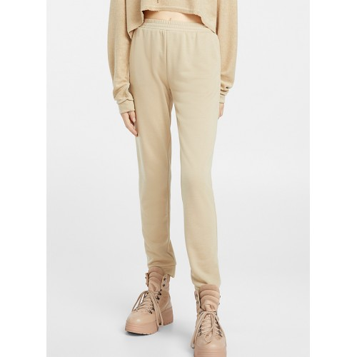 Twik Taupe utility joggers eclectic trendy fashion Cotton-blend jersey with bouclé terry lining 16276-3160